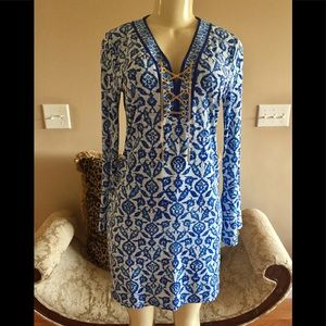 Michael Kors Sz.S Blue&White Print Dress